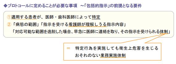 プロトコールに定めることが必要な事項 ~「包括的指示」の前提となる要件