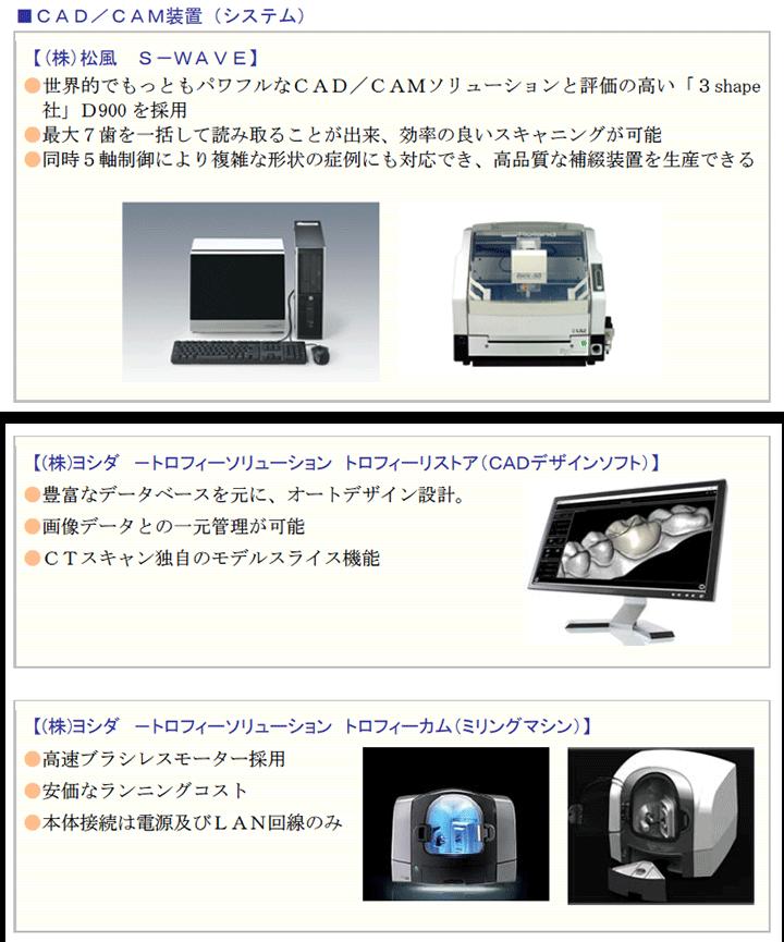 CAD/CAM装置(システム)