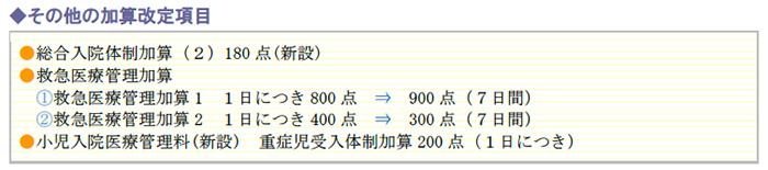 その他の加算改定項目