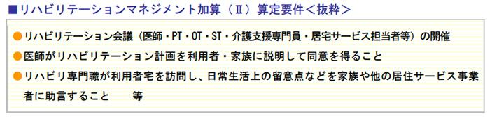 リハビリテーションマネジメント加算(Ⅱ)算定要件<抜粋>