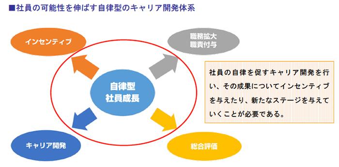 社員の可能性を伸ばす自律型のキャリア開発体系