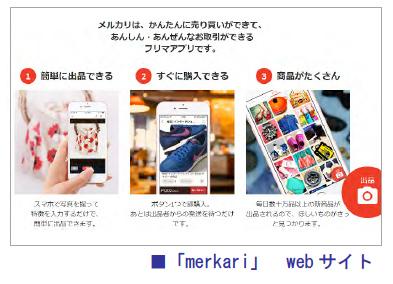 「merkari」webサイト