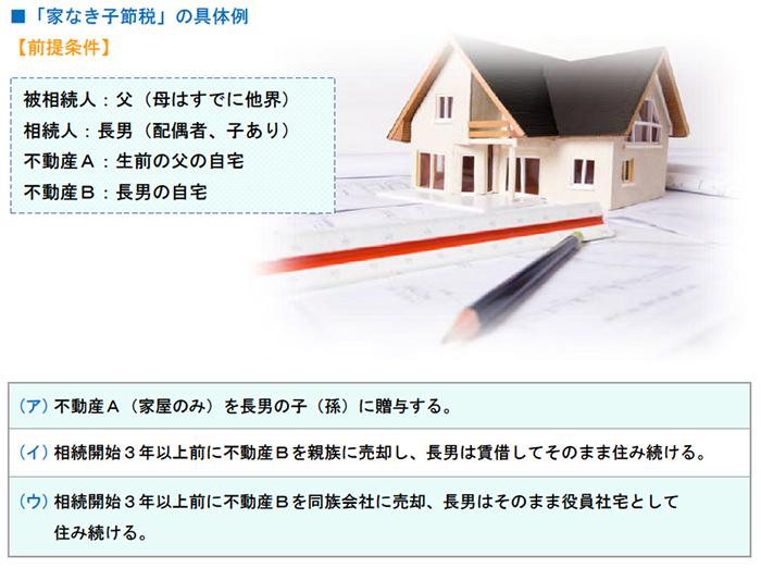「家なき子節税」の具体例