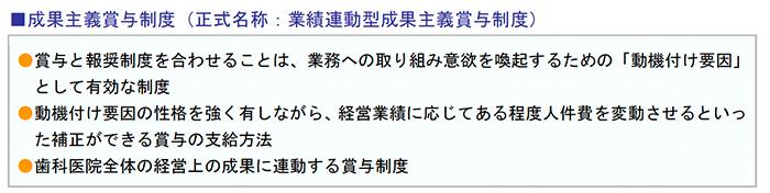 成果主義賞与制度(正式名称:業績連動型成果主義賞与制度)